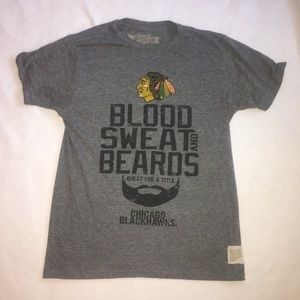 Chicago Blackhawks T Shirt M Blood Sweat Beards